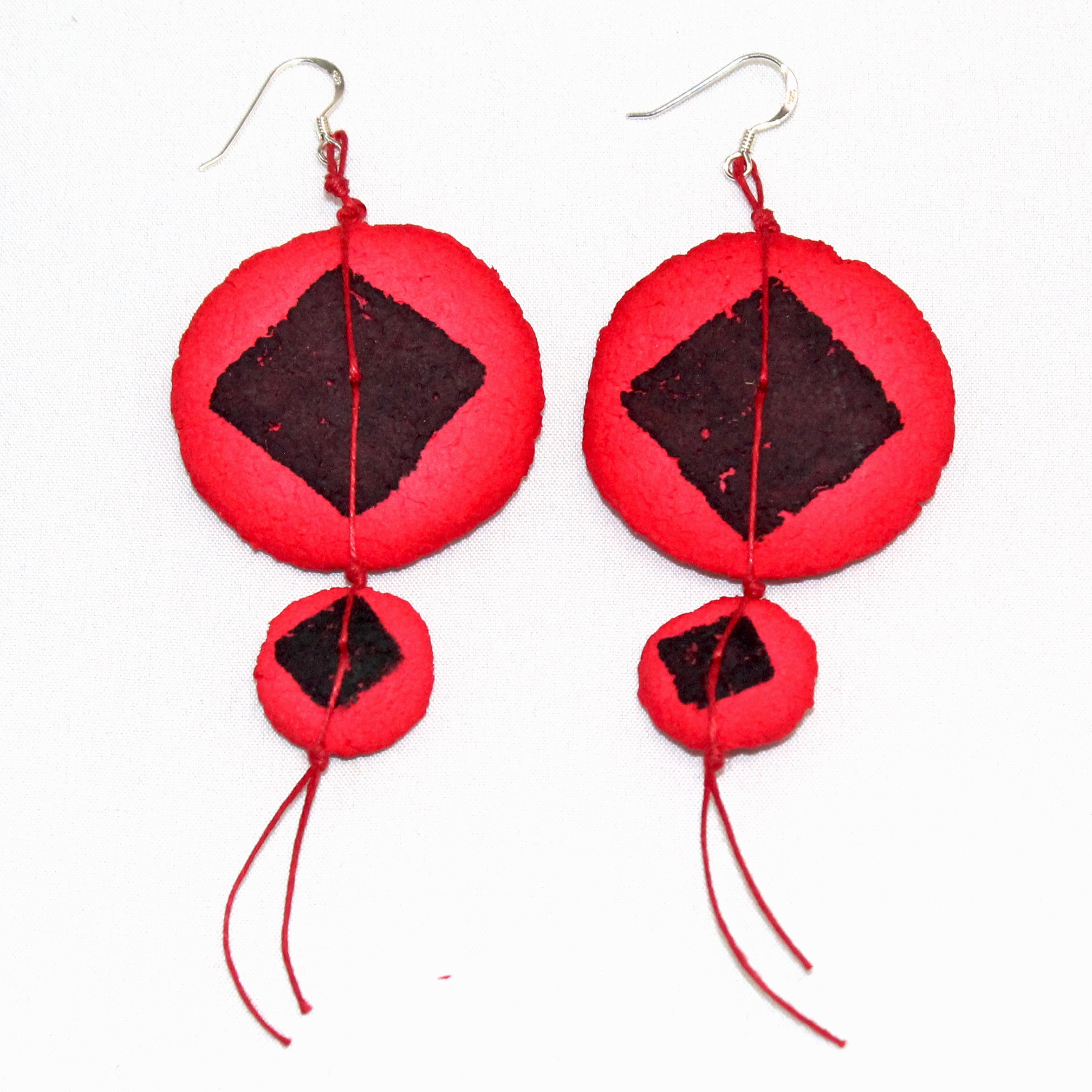 Begona Rentero Earrings, Nu Assoupie, Scarlet