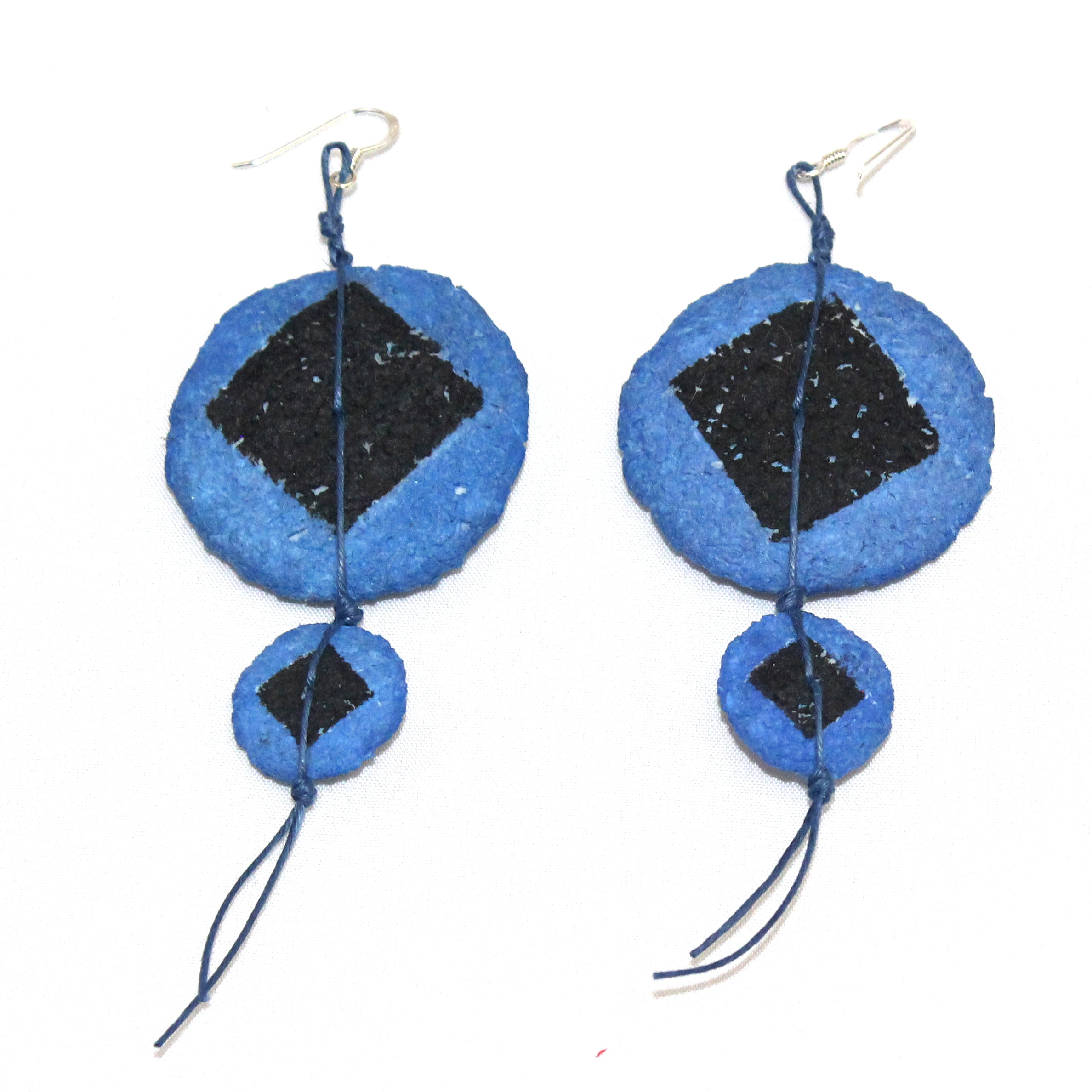 Begona Rentero Earrings, Nu Assoupie, Colbalt Blue