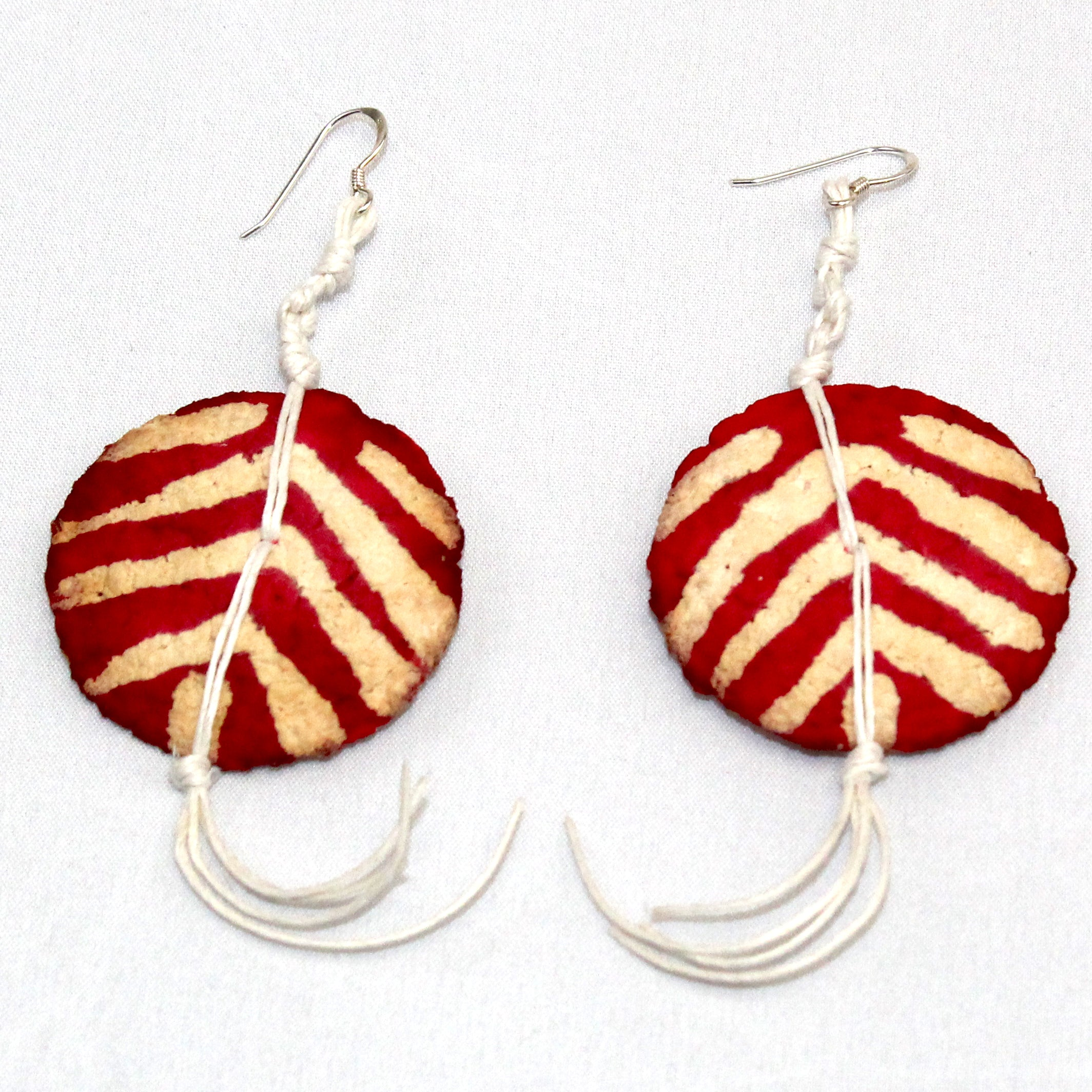 Begona Rentero Earrings, Navajo, Poppy Red