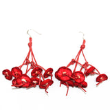 Begona Rentero Earrings, Elena En La Playa, Poppy Red