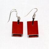 Christina Brampti Earrings, Cube, Orange