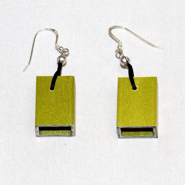 Christina Brampti Earrings, Cube, Lime