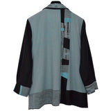 Elizabeth Garver Jacket, Hand Painted Silk, Dusty Green, M