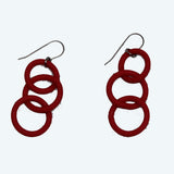 Frank Ideas Earrings, Chain, Red