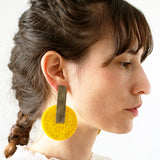 Gily Ilan Earrings, Dari, Yellow