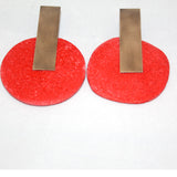 Gily Ilan Earrings, Dari, Red