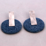 Gily Ilan Earrings, Dari, Blue