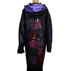 Iris Mansard Raincoat, Hooded, Black/Purple, SZ 4-6