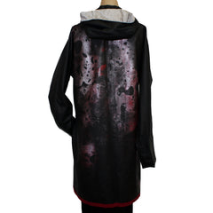 Iris Mansard Raincoat, Hooded, Red/Black, Sz 8-10