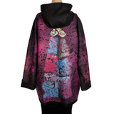 Iris Mansard Raincoat, Hooded, Fuchsia, Sz 12-14