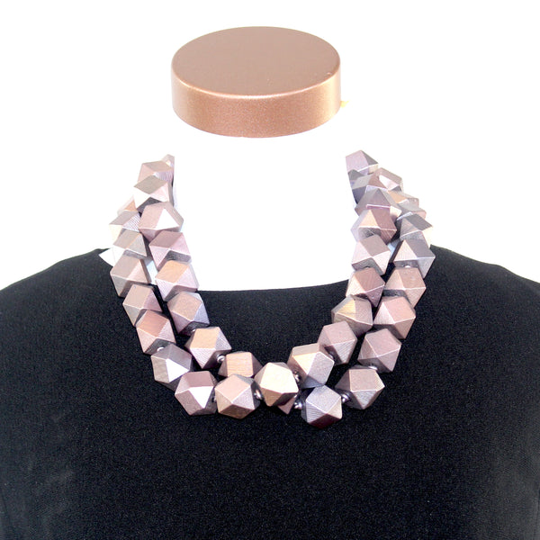Jianhui Necklace, Big Diamonds, Lilac