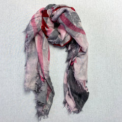Kala Scarf, I Love You Pink, Pink/Grey