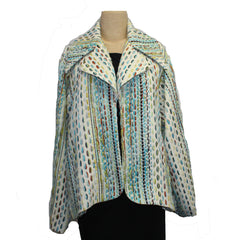 Lorain Croft Jacket, Safari, Cream/Turquoise/Lime, S