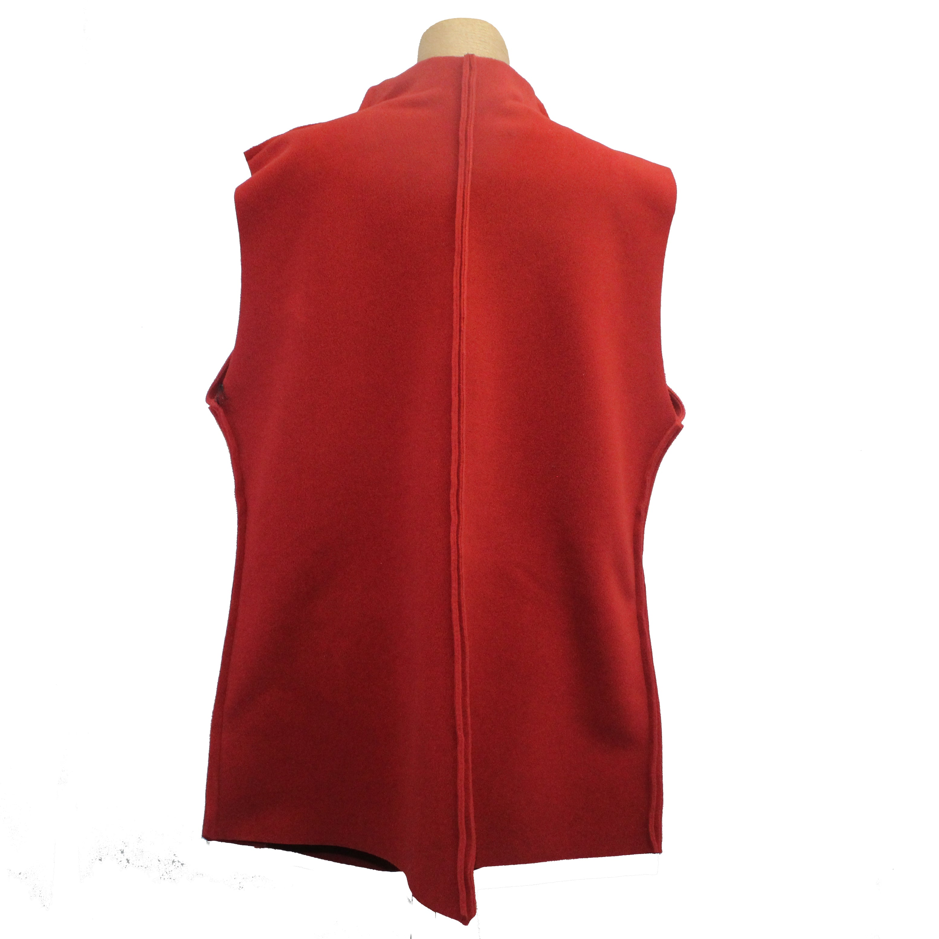 Mary Stackhouse Vest, Long, Red, M/L