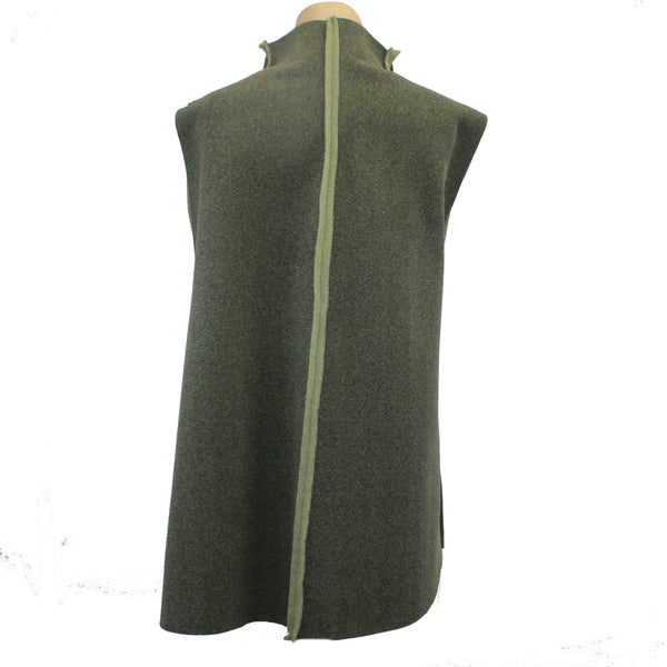Mary Stackhouse Vest, Swing, Two-Tone Green, L