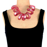 Carla M Necklace, Aura Round Red