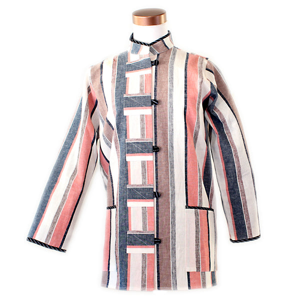 Marla Duran, Shirt, Multi Stripe, XS