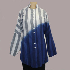 M Square Shirt, Long Vent, Indigo