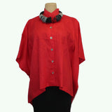 M Square Shirt, Poncho, Cherry, OS