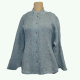 M Square Shirt, Circular, Heather Blue