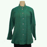 M Square Shirt, Circular, Green
