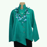M Square Shirt, Point, Teal