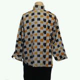 M Square Shirt, Squares, Grey/Gold/Black