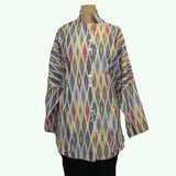 M Square Shirt, Tunic, Ikat Multi