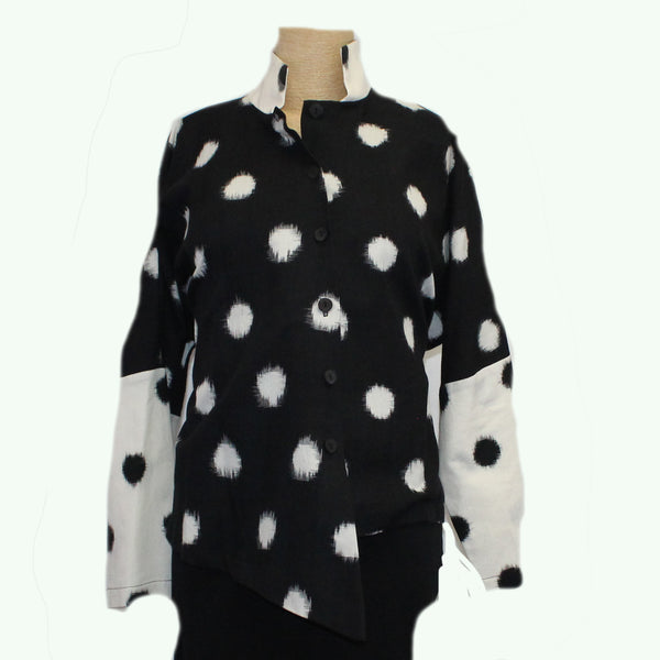M Square Shirt, Point, Black/Cream