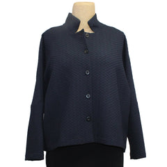 M Square Shirt, Button Front, Navy