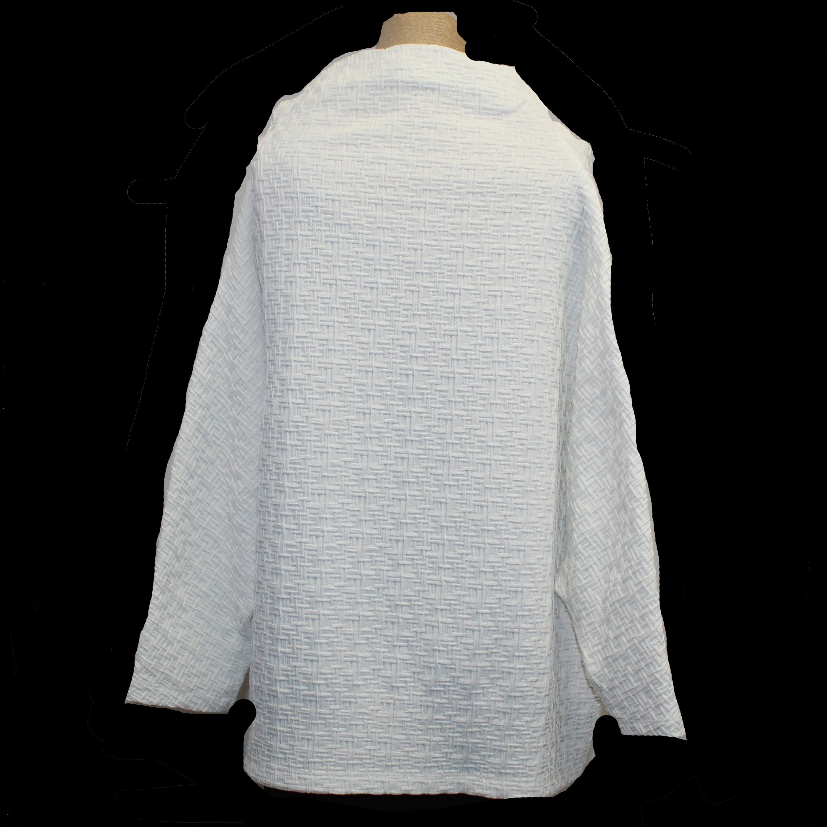 M Square Top, Basket Weave, White