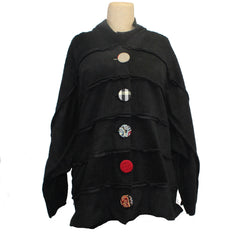 M Square Coat, Fleece, Black, OS