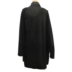 M Square Coat, Fleece Drape, Black, OS