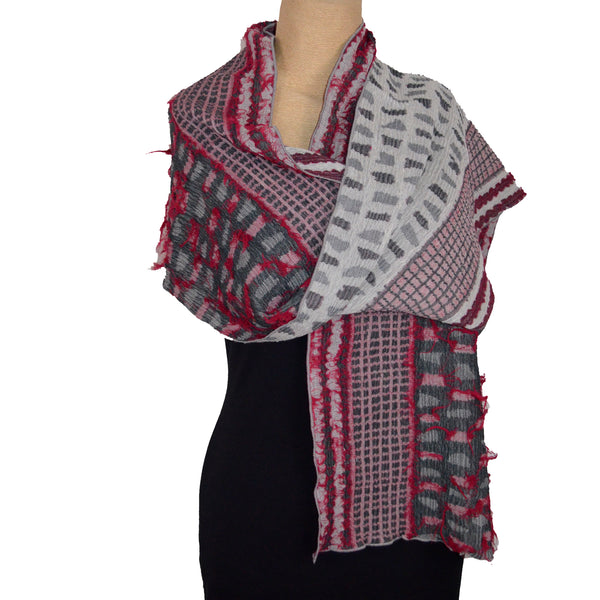 Nuno Shawl, Half Size, Shards, Red Mix