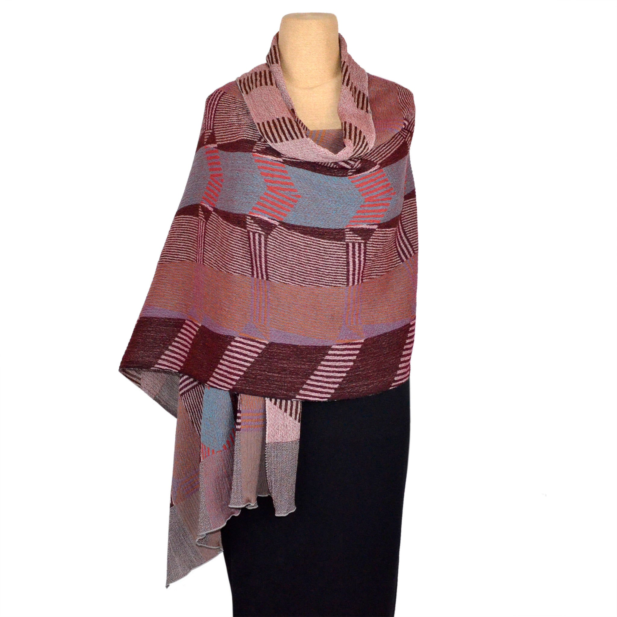 Nuno Shawl, Threads, Brown