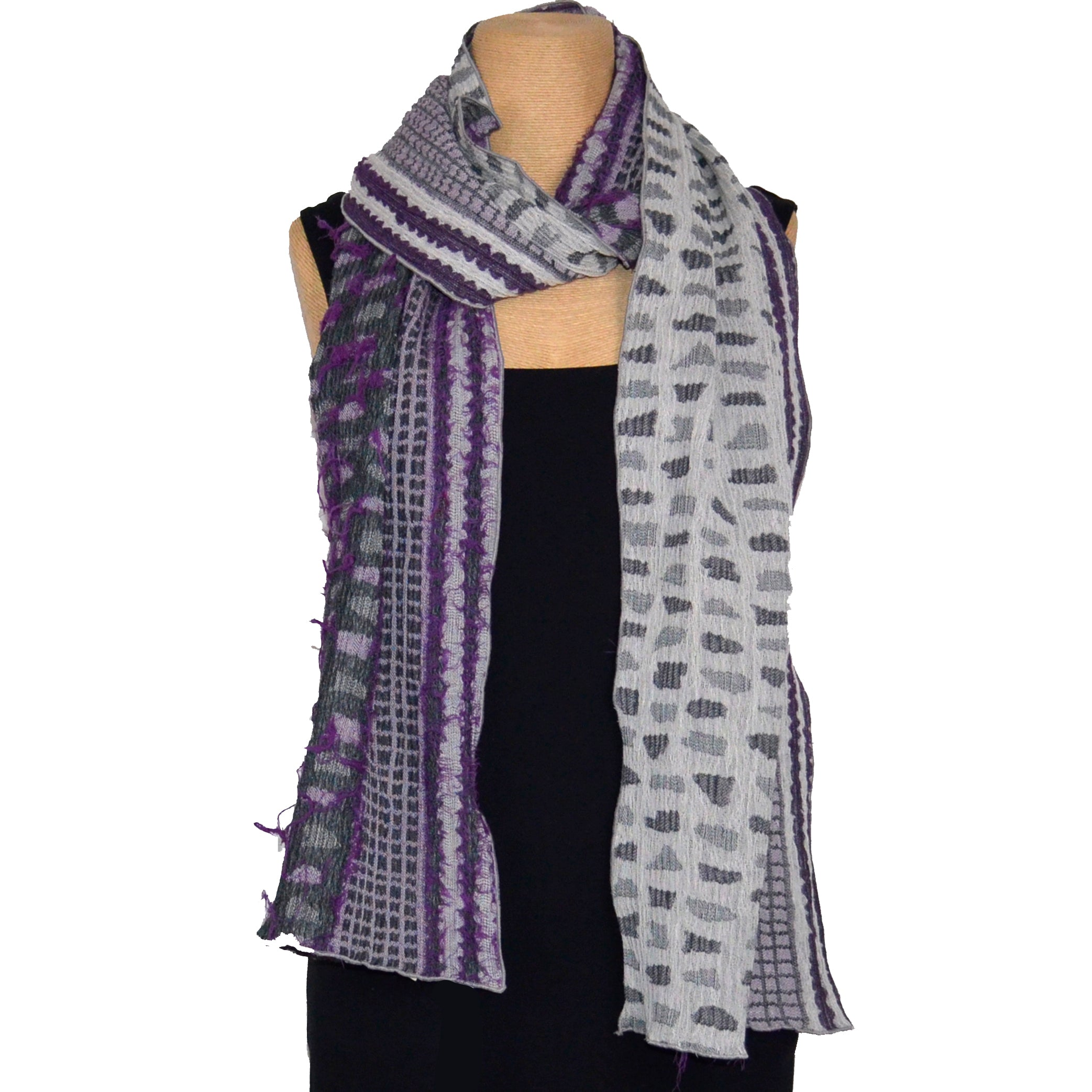 Nuno Shawl, Half Size, Shards, Purple Mix