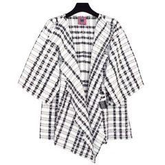 Palson & Penner Studio Jacket, Cool Squares, White with Black