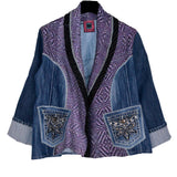 Palson & Penner Studio Jacket, Modern Denim Patched, Purple