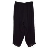 Q'neel Linen Pants, Black