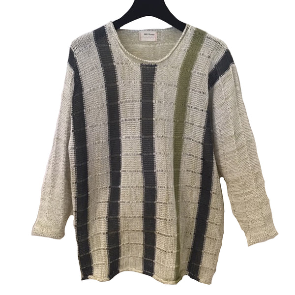Red Thread, Sweater, Ashford, Cream/Olive/Grey, S