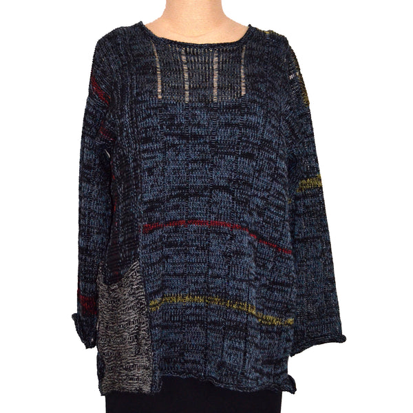 Red Thread Sweater, Roberts, Black/Denim