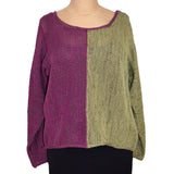 Red Thread Sweater, Benoit, Beet/Olive, M