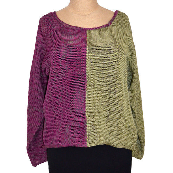 Red Thread Sweater, Benoit, Beet/Olive