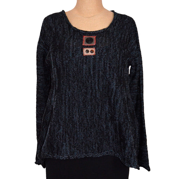 Red Thread Sweater, Joyner, Black/Denim