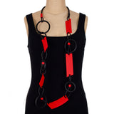 Samuel Coraux Necklace, Circles, Twists, Wedges
