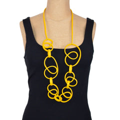 Samuel Coraux Necklace, Swirled Rubber Ribbons