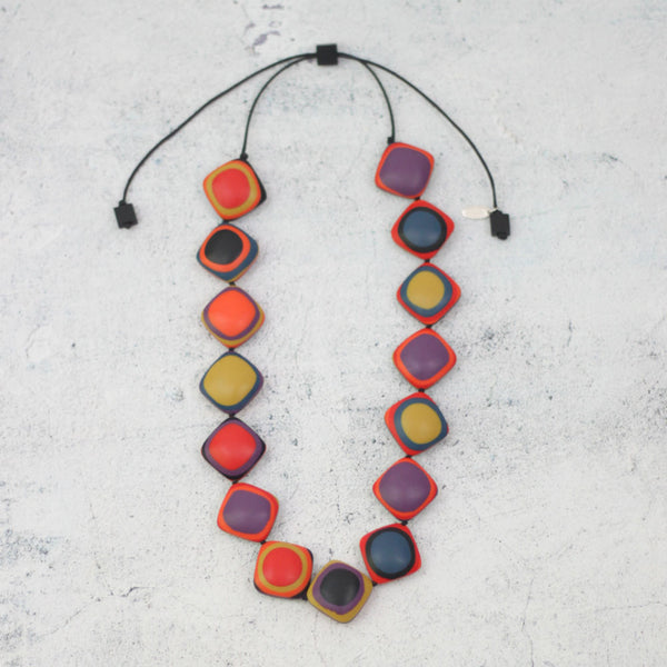 Sylca Designs Necklace, Lara, Multi Color