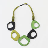 Sylca Designs Necklace, Roslyn, Shades of Green