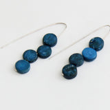 Sylca Designs Earrings, Eva Dangle, Denim