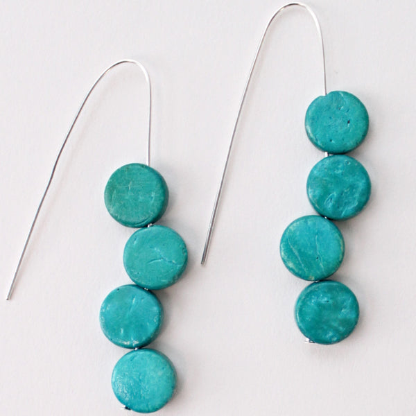 Sylca Designs Earrings, Eva Dangle, Turquoise